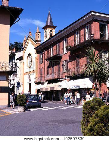Menaggio town centre, Italy.