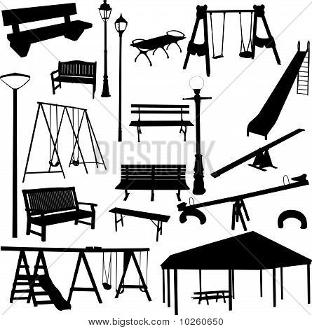park outdoor object - vector