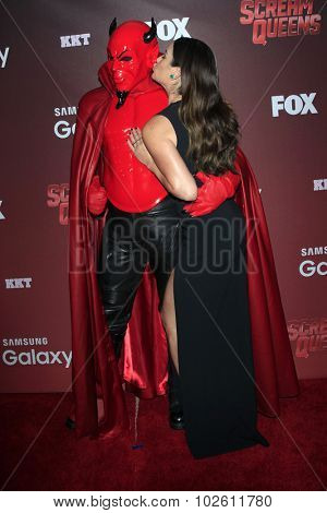 LOS ANGELES - SEP 21:  Red Devil, Lea Michele at the Premiere of FOX TV's