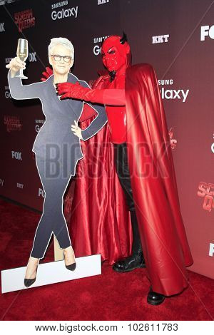 LOS ANGELES - SEP 21:  Jamie Lee Curtis standee, Red Devil at the Premiere of FOX TV's