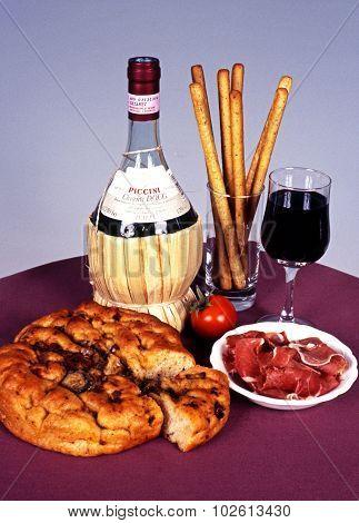 Italian food and wine.