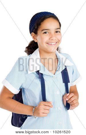happy elementary school student