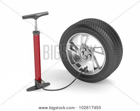 Pump And Car Tire