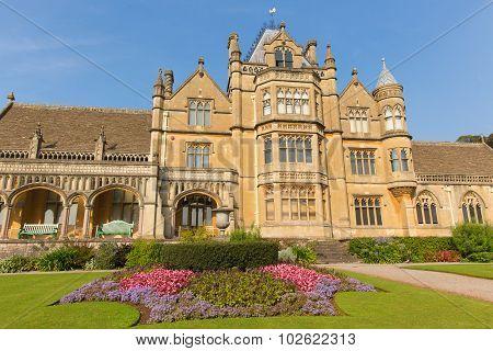 Tyntesfield House near Bristol Somerset England UK a tourist attraction beautiful flower gardens