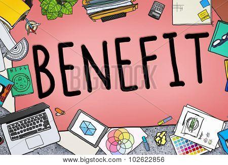 Benefit Income Incentive Profit Bonus Concept poster