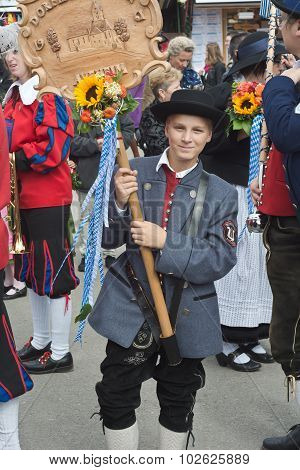 Traditional Lederhosen Costume At The Oktoberest