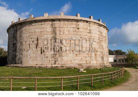 Round Stone Antic Mausoleum