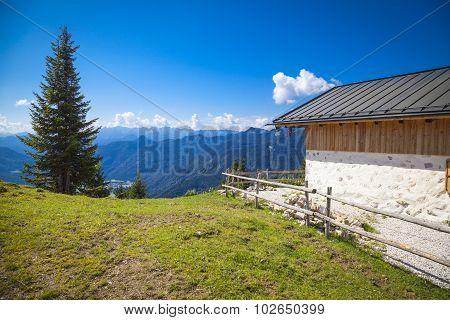 Alpine cabin in the Bavarian mountains near the Austrian border