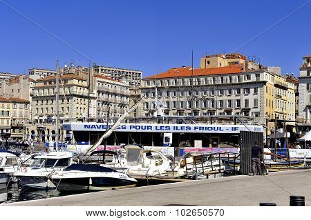 A View Of The Old Port Of Marseille