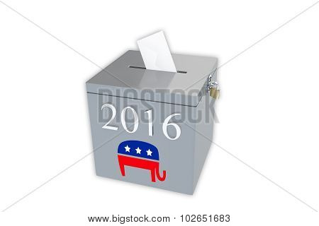 2016 Republican Primary Ballot Box