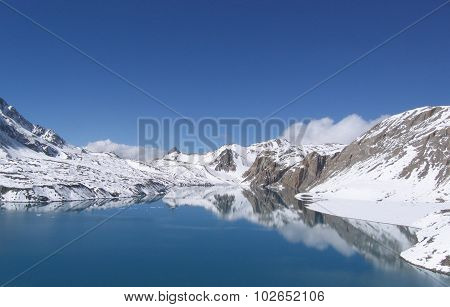 Telco Alpine lake in the Himalayas