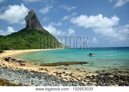Crystalline sea beach in Fernando de Noronha island, Brazil