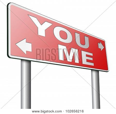 choosing between me and you your or my opinion mariage crisis or differences leading to divorce and separation having different or separate interests and opinions poster