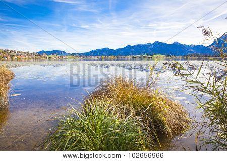 Lake Hopfensee In Allgaeu In Autumn