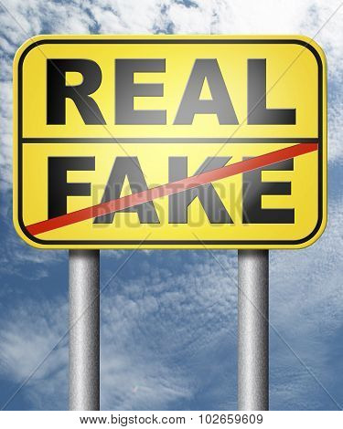 fake versus real possible or impossible reality check searching truth poster