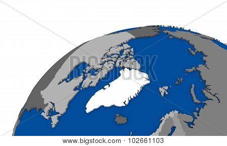 Arctic North Polar Region On Earth Political Map