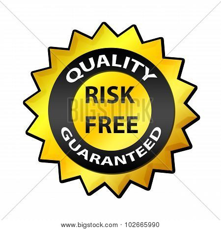 Quality Guaranteed, Risk Free label
