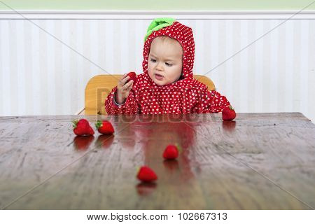 Pretty Baby In Strawberry Suit