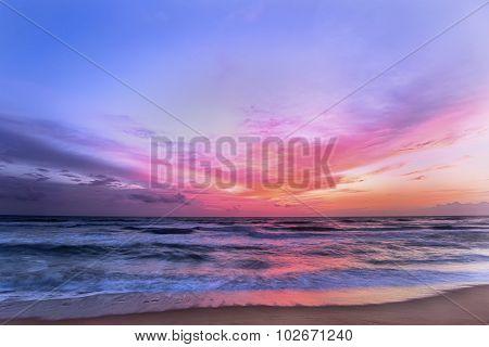 Beautiful Sunset On A Sri Lankan Beach.