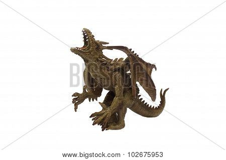 Isolated dragon toy photo.