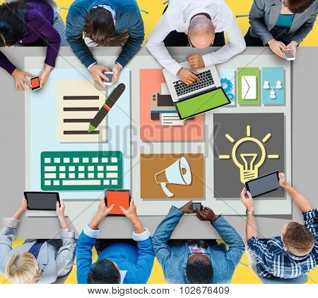 Content Blog Blogging Idea Media Internet Email Concept poster