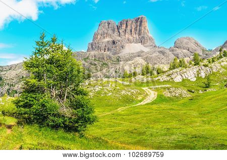 Monte Averau in Nuvolau Group, Dolomites, Italy