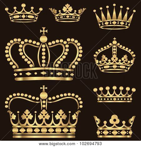 Gold Crown Set