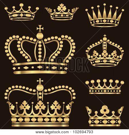 Gold Crown Set