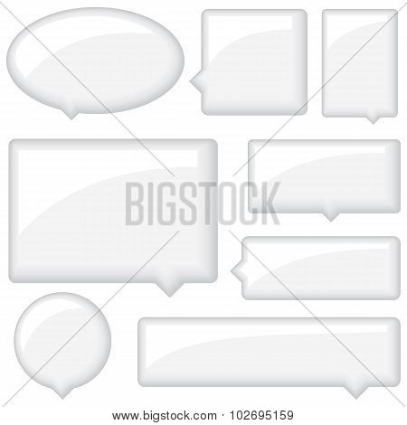 Glossy Word Bubbles Set