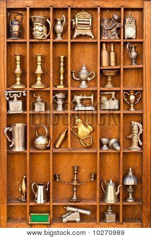 Antiques Shelf In Portrait Mode