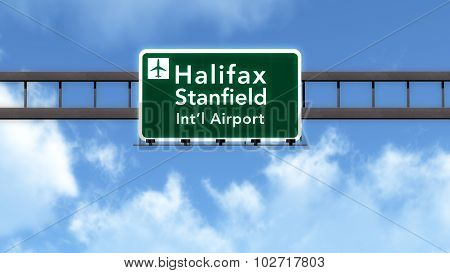 Halifax Canada Airport Highway Road Sign