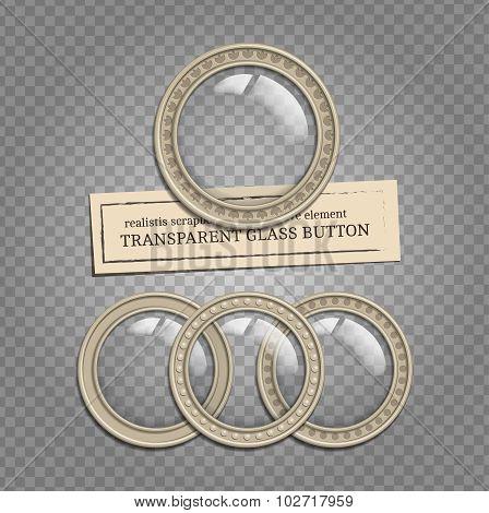 Transparent Glass Buttons