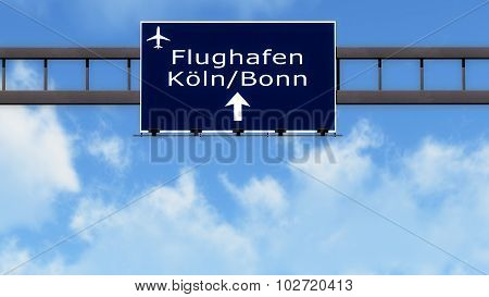 Koln Bonn Germany Airport Highway Road Sign