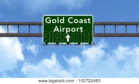 Gold Coast Australia Airport Highway Road Sign