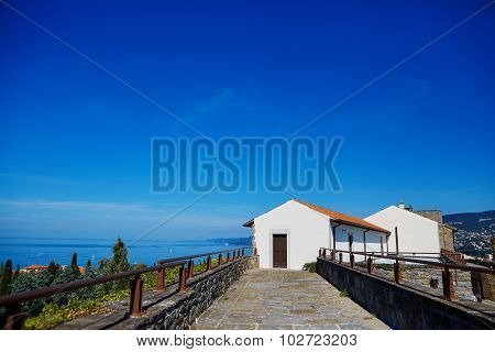 Small white cottage