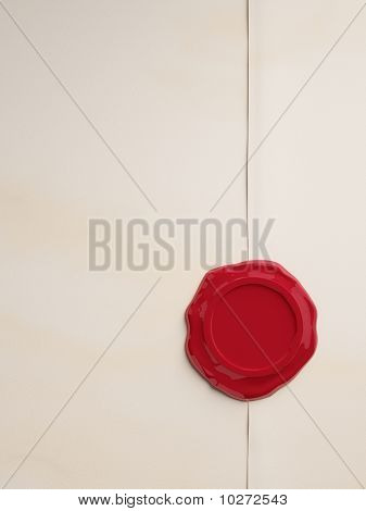 Empty parchment with red wax seal