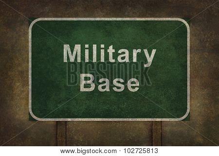 Military Base Roadside Sign