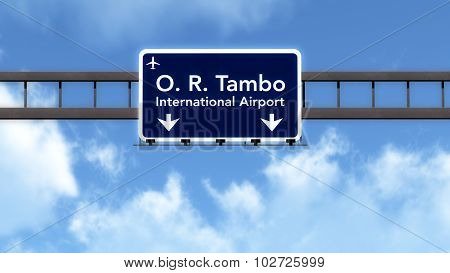 Johannesburg South Africa Airport Highway Road Sign