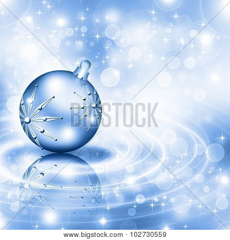The best blue Christmas background