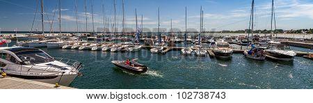 Boats at berth, panorama