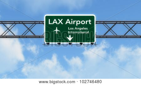 Los Angeles Lax Usa Airport Highway Sign