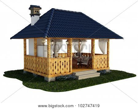 3d Illustration gazebo
