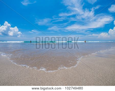 Kuta Beach, Lombok, Indonesia. Paradise place for surfing