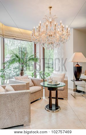 Neat Furnished Living Room