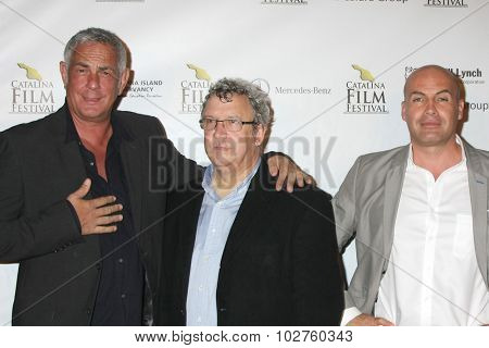 LOS ANGELES - SEP 24:  Hein Hoven, Larry Estes, Billy Zane at the Catalina Film Festival Opening Night Feature -- West of Redemption at the Lancer Auditorium on September 24, 2015 in Avalon, CA