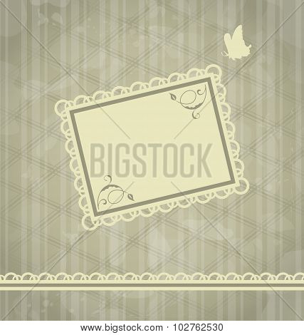 Grunge oldfashioned background with greeting card