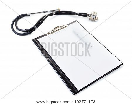 Medical Stetoscope Isolated On White