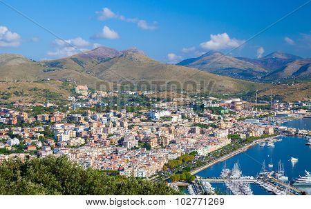 Gaeta City, Italy. Summer Morning Landscape
