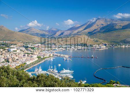 Bay Of Gaeta, Italy. Summer Landscape