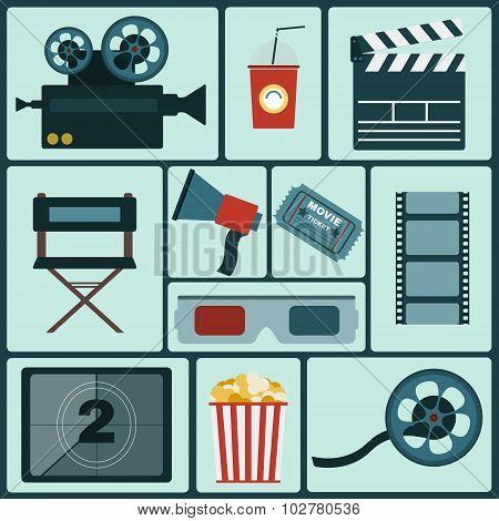 Cinema Colorful Icon Set